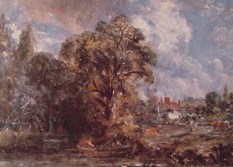 Scene on a River 1, c.1830 - c.1837 - John Constable