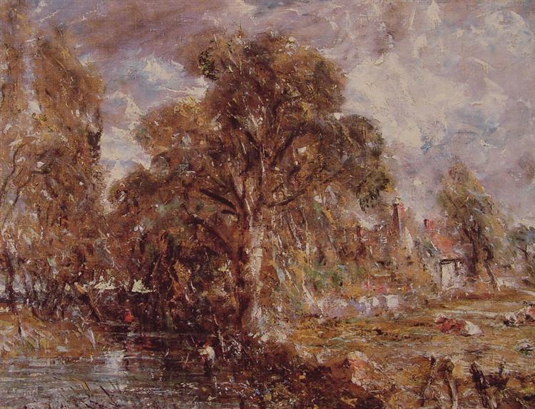 Scene on a River 2, c.1830 - c.1837 - John Constable