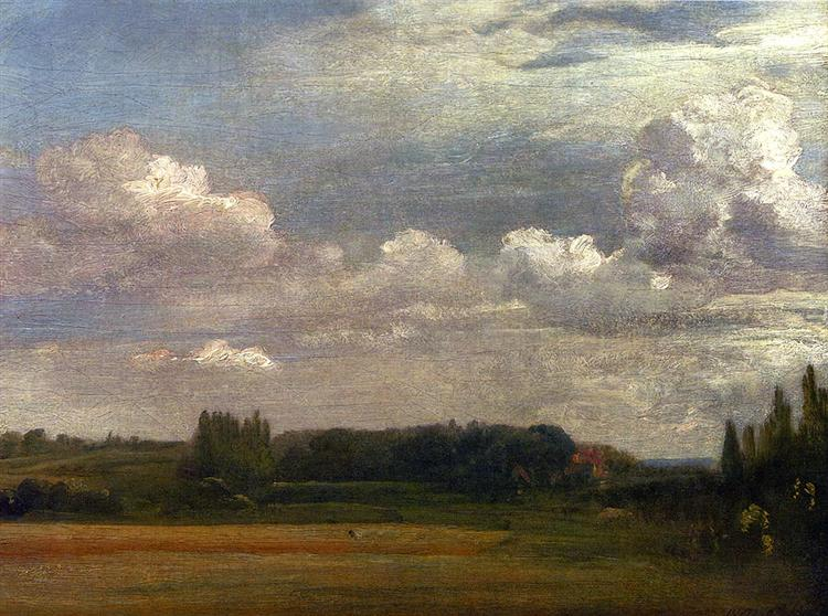 View Towards The Rectory From East Bergholt House, 1813 - John Constable