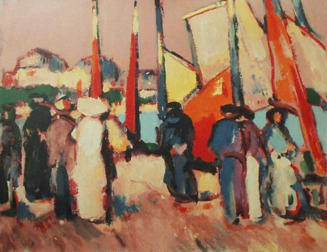 People and Sails at Royan, 1910 - John Duncan Fergusson