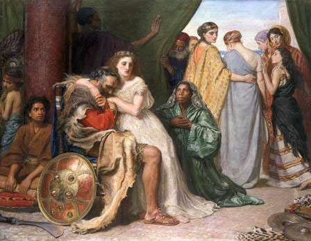 Image result for Jephthah and his Daughter millais