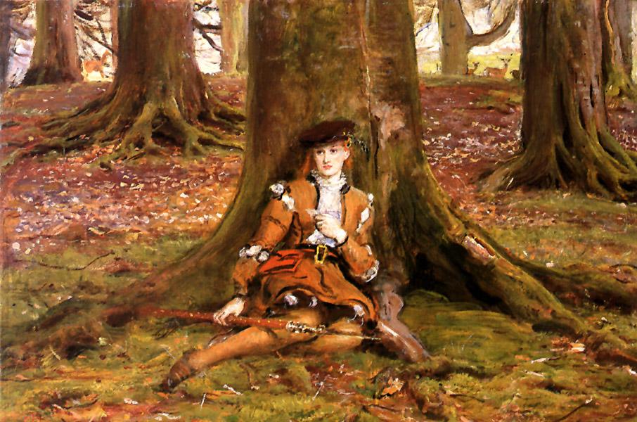 http://uploads4.wikipaintings.org/images/john-everett-millais/rosalind-in-the-forest.jpg