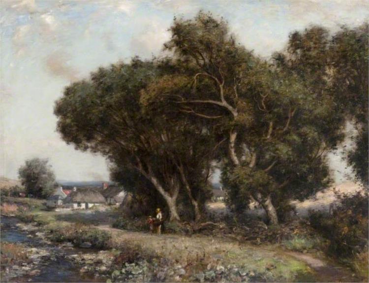 The Path by the Stream, 1912 - John Henderson