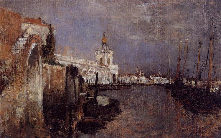 Canal, Venice, c.1878 - John Henry Twachtman