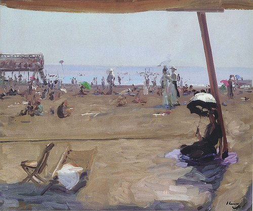 Bathing in the Lido, Venice, 1912 - John Lavery