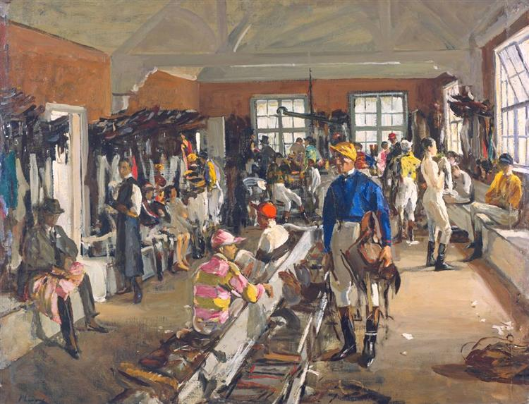 The Jockeys' Dressing Room at Ascot, 1923 - John Lavery