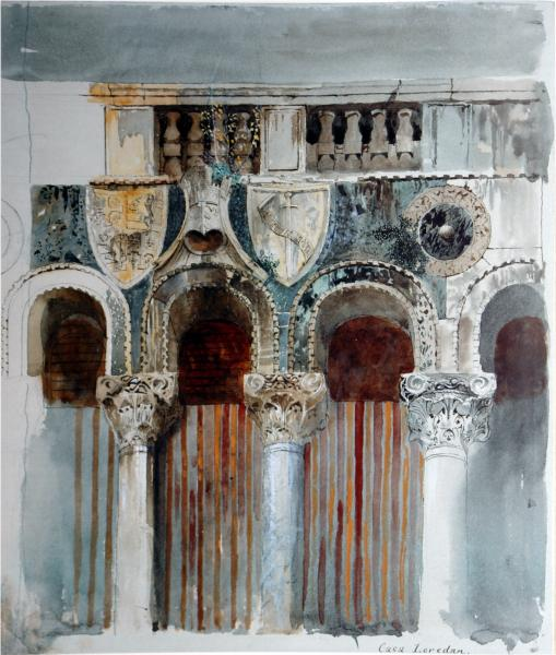 Study of the Marble Inlaying on the Front of the Casa Loredan, 1845 - John Ruskin