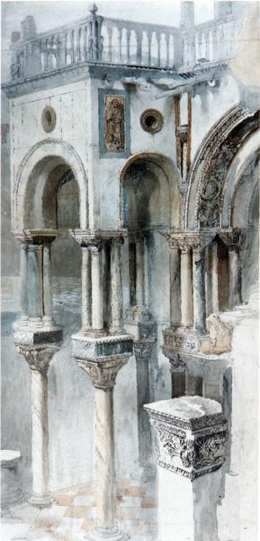 The South Side of St Mark, 1851 - John Ruskin