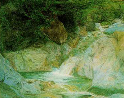 Waterfall at Brantwood - John Ruskin