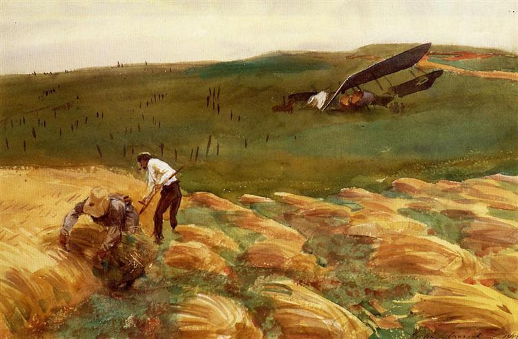 Crashed Aeroplane, 1918 - John Singer Sargent