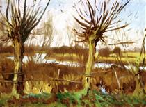 Landscape with trees, Calcot-on-the-Thames - John Singer Sargent