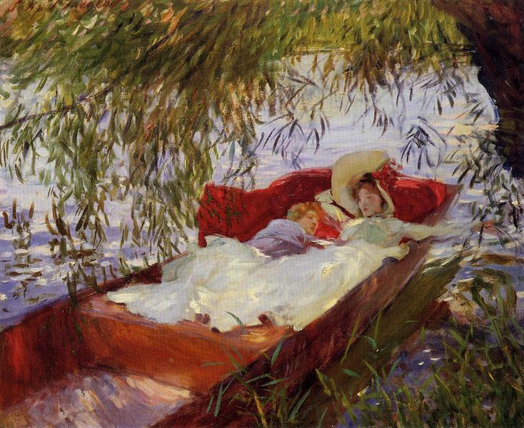 Two Women Asleep in a Punt under the Willows, 1887 - John Singer Sargent