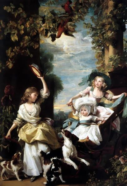 The three youngest daughters of George III, 1785 - John Singleton Copley