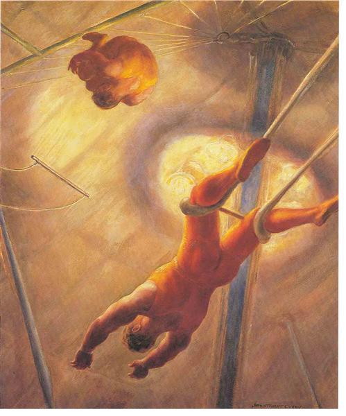 The Flying Codonas, 1932 - John Steuart Curry