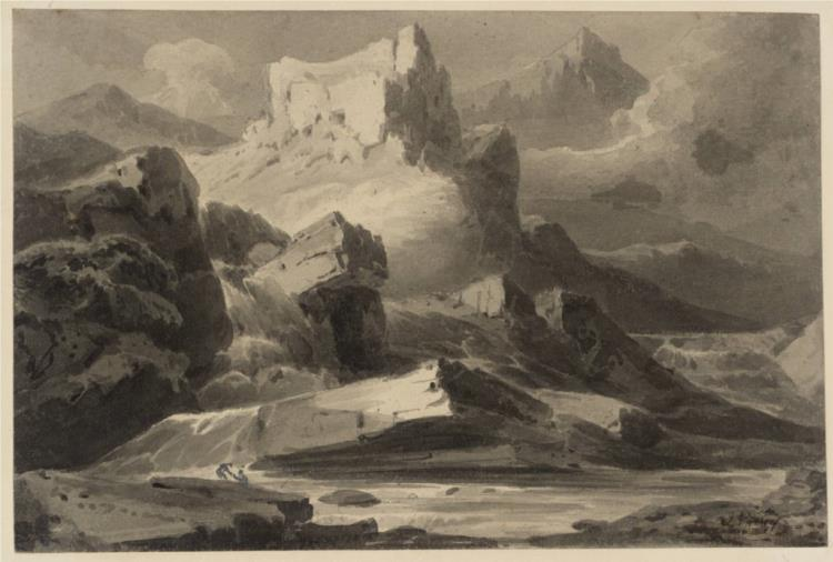 An Ancient Castle. Sketching Society Subject, 1807 - Джон Варли
