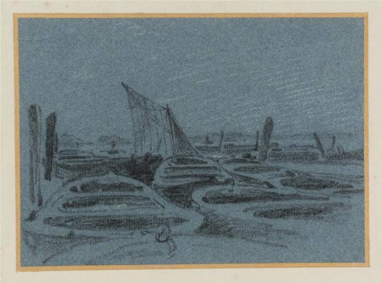 Thames Wharves and Barges None - John Varley