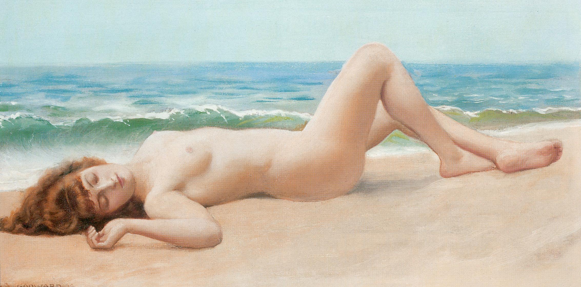 Femmes nues prisent en photo leur insus sur la plage sur