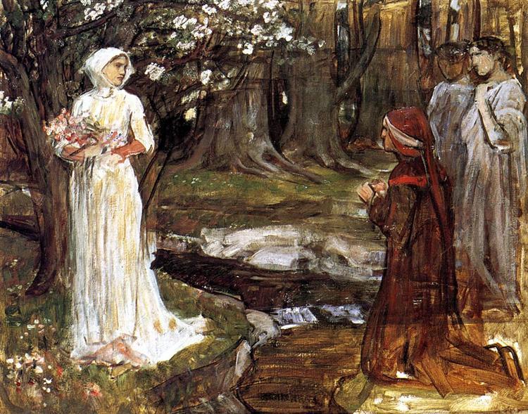 Dante and Beatrice, c.1914 - John William Waterhouse