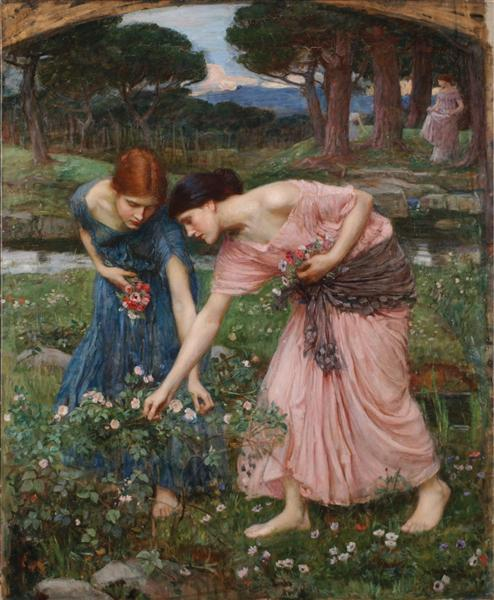 Gather Ye Rosebuds While Ye May, 1909 - John William Waterhouse