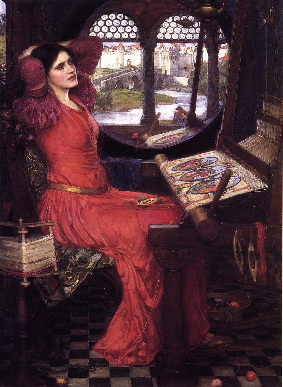 http://uploads4.wikipaintings.org/images/john-william-waterhouse/i-am-half-sick-of-shadows-said-the-lady-of-shalott-1915.jpg