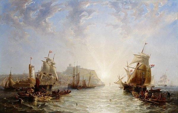Shipping off Scarborough, 1845 - John Wilson Carmichael