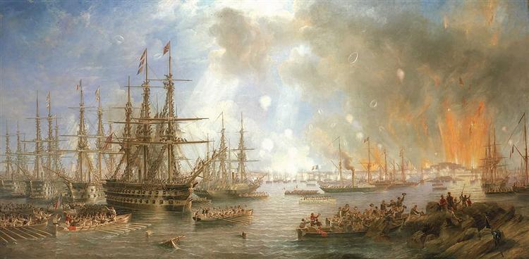 The Bombardment of Sveaborg, 9 August 1855, 1855 - John Wilson Carmichael