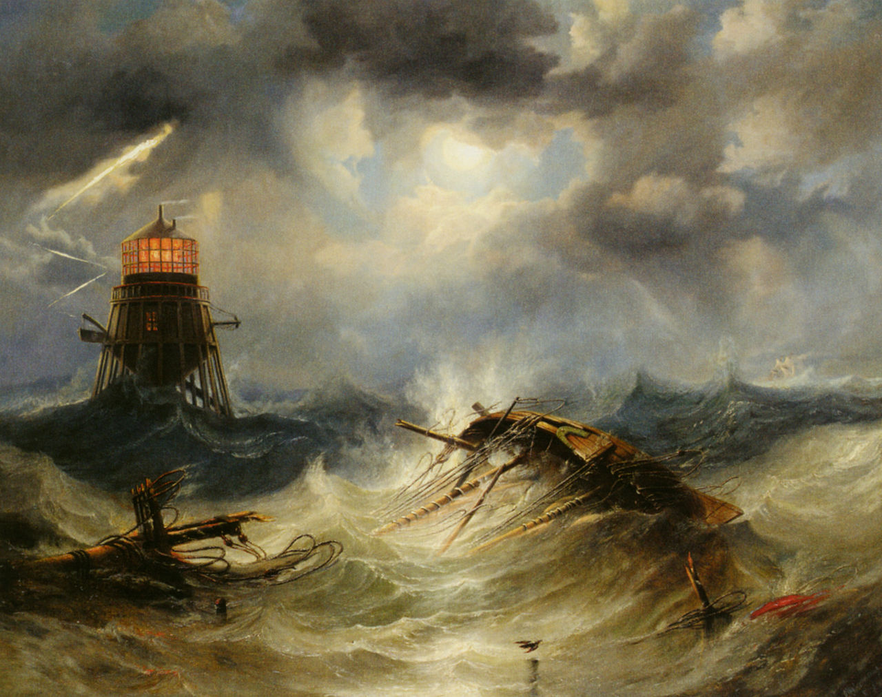 The Irwin Lighthouse, Storm Raging, 1851