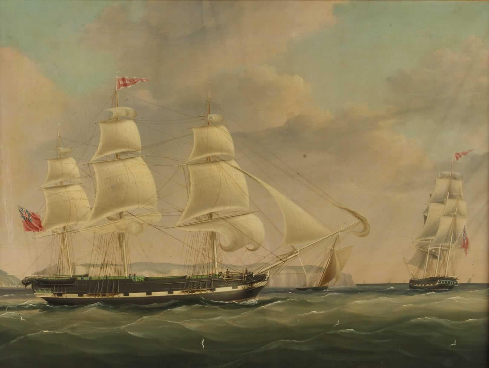 The Ship Isabella at Sea, 1820