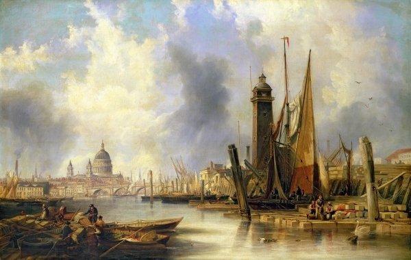View of London with St. Paul's - John Wilson Carmichael