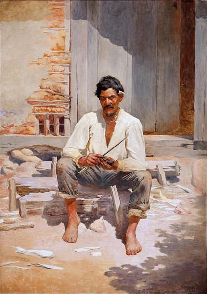 Caipira Chopping Tobacco (Sketch), 1893 - José Ferraz de Almeida Júnior