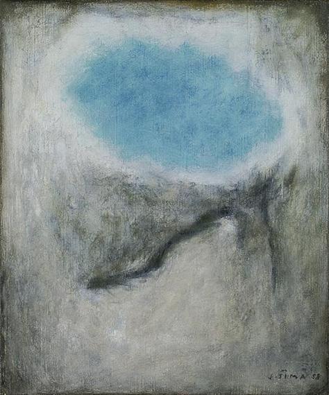 Corps d'azur en forme de ciel, 1958 - Josef Sima