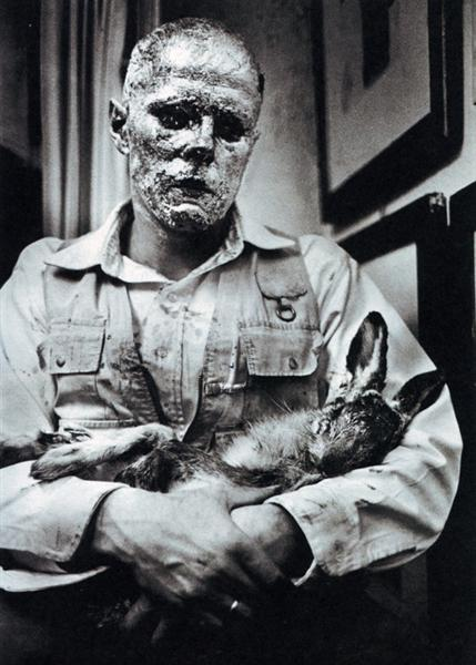 How to Explain Pictures to a Dead Hare, 1965 - Joseph Beuys