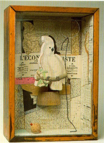 A Parrot for Juan Gris, 1953 - Джозеф Корнелл