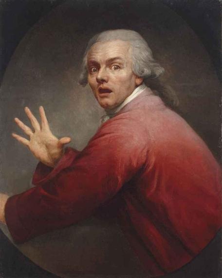 Autoportrait en homme surpris et terrorisé, 1791 - Жозеф Дюкрё