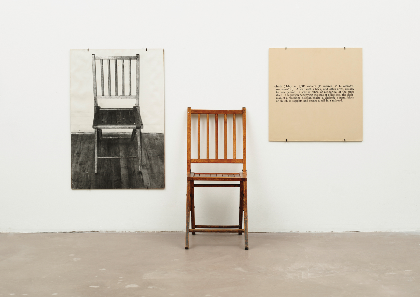 Image result for joseph kosuth one and three chairs