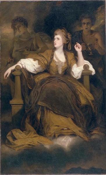 Mrs Siddons as the Tragic Muse - Joshua Reynolds