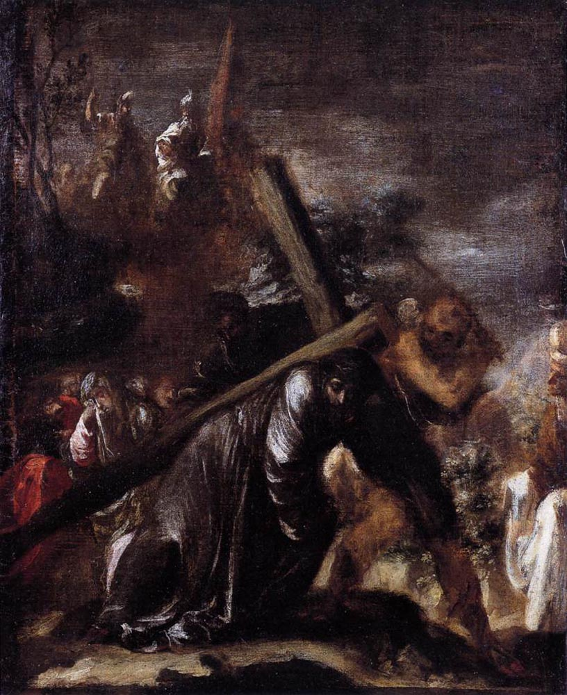Jesus Carrying The Cross Painting Carrying the Cross - Juan de