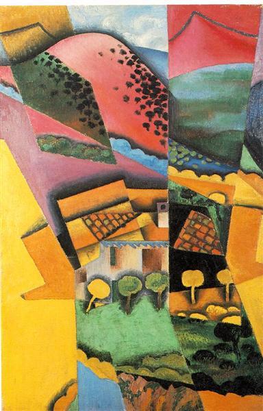 Landscape at Ceret, 1913 - Juan Gris