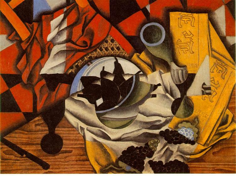 Pears and grapes on a table, 1913 - Хуан Грис