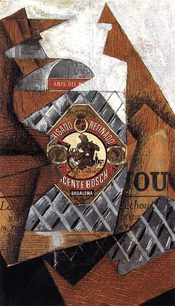 The Bottle of Anis del Mono, 1914 - Juan Gris