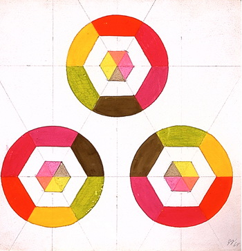 Optical Shapes #3, 1969 - Judy Chicago
