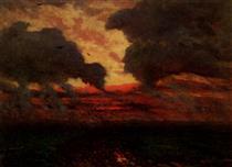 Les Corbeaux, Soir D'Orage - Jules Breton