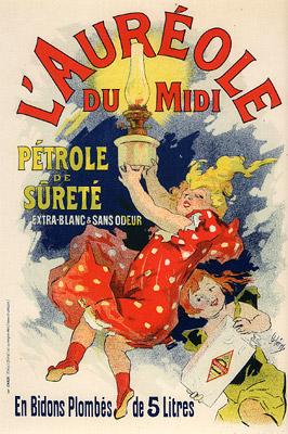 L´Aureole du Midi, Pétrole de sureté, 1900 - Jules Chéret