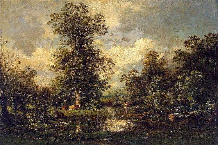 Forest Landscape, 1840 - Jules Dupre
