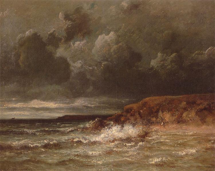 Marine Landscape (The Cape and Dunes of Saint-Quentin) - Jules Dupre