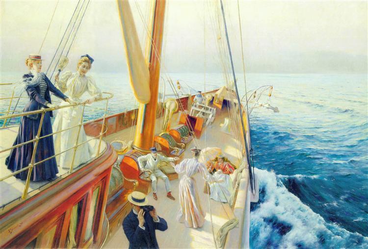 Yachting in the Mediterranean, 1896 - Julius Stewart