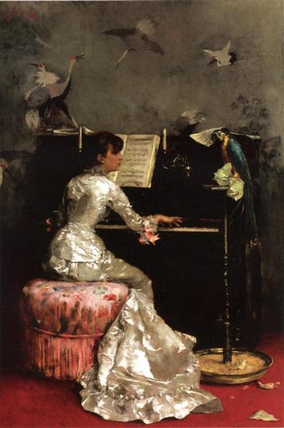 Young Woman at Piano, 1878 - Julius LeBlanc Stewart