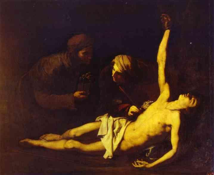 Saint Sebastian Attended by Saint Irene, 1628 - Jusepe de Ribera