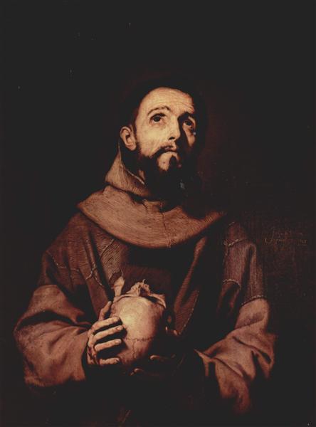 St. Francis of Assisi, 1643 - Jusepe de Ribera