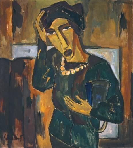 Woman with a Bag, 1915 - Karl Schmidt-Rottluff